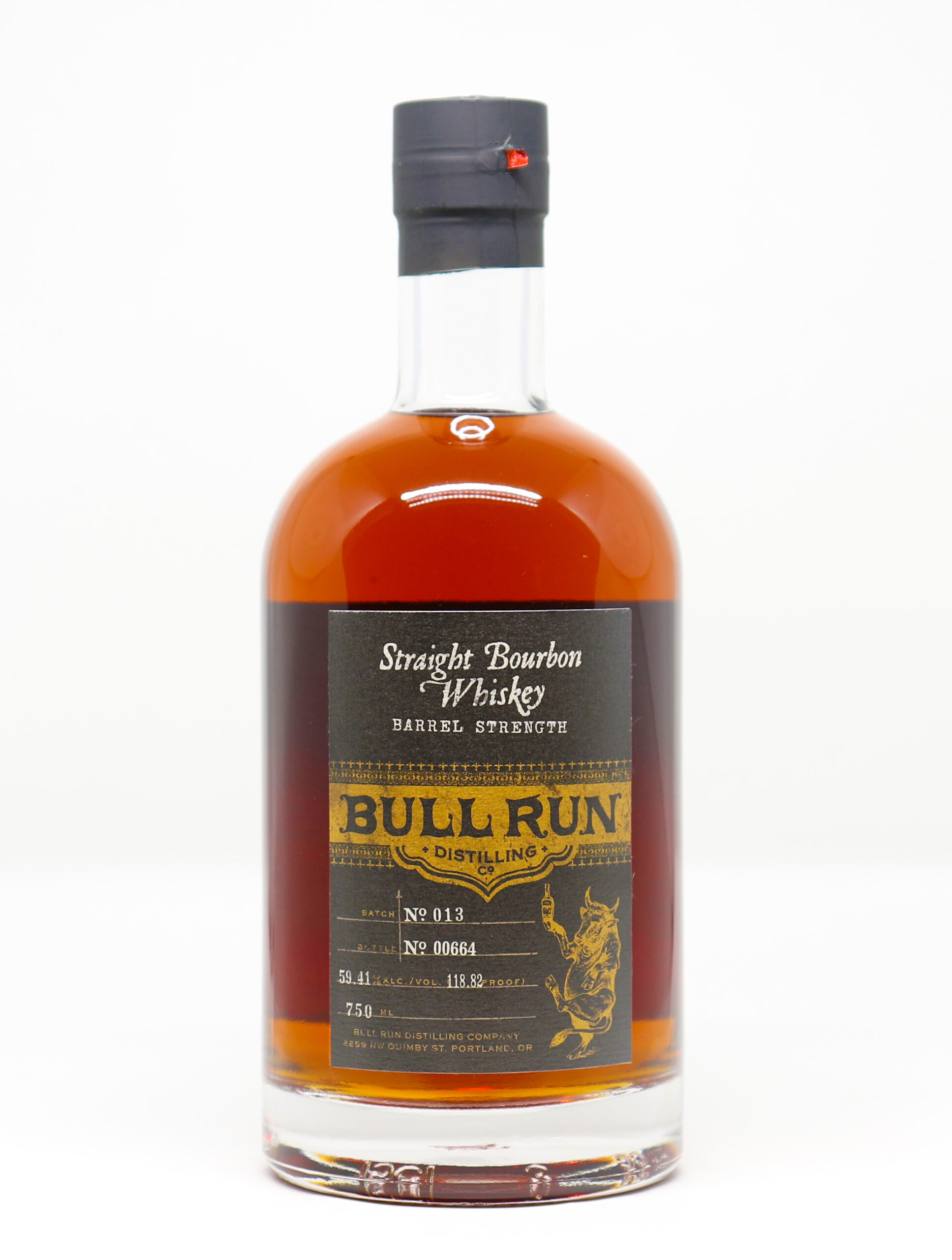 Bull Run – Straight Bourbon Whiskey: Barrel Strength